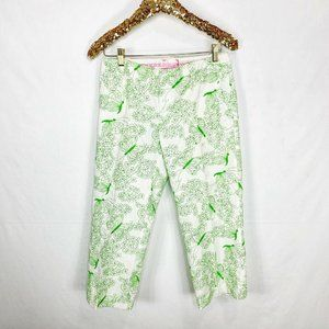 Lilly Pulitzer Butterfly Cropped Capri Pants